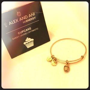 Alex and Ani Cupcake Charm Bangle Bracelet